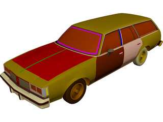 Oldsmobile Cutlass Cruiser (1983) 3D Model