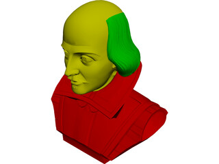 William Shakespeare 3D Model 3D Preview