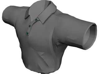 Golf Shirt 3D Model 3D Preview