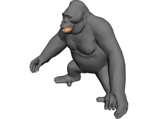 Gorilla 3D Model 3D Preview