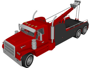 Tow Truck 3D Model 3D Preview