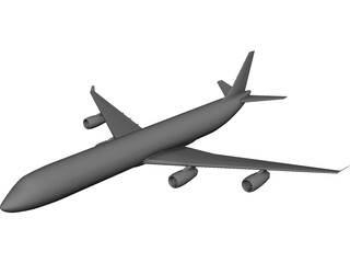 Airbus A340 3D Model 3D Preview