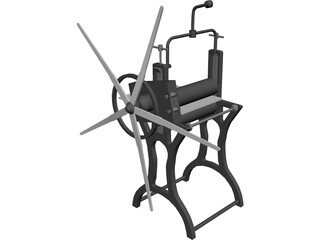 Antique Press 3D Model