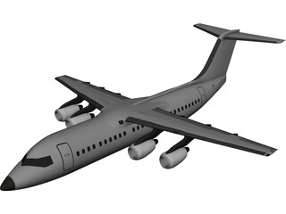 British Aerospace BAe 146-300 3D Model