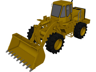 Tractor Front Loader 3D Model 3D Preview