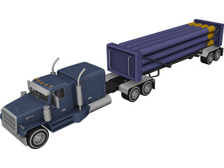 Liquid Nitrogen Carrier Truck 3D Model