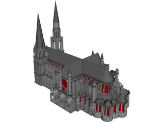 Cathedral Chartres 3D Model