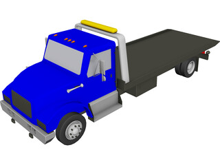 Wrecker Flatbed 3D Model