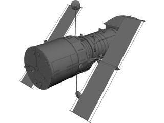 Hubble Space Telescope CAD 3D Model