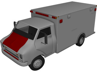 Ambulance Classic 3D Model