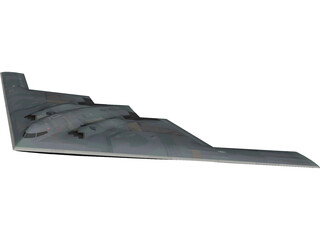 B2 Stealth Bomber 3D Model