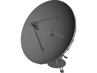 Radio Satellite Telescope 3D Model