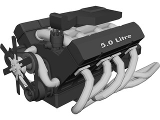 Engine V8 5.0 Litre 3D Model