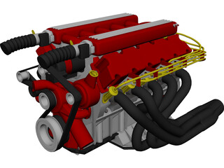 Engine Dodge Viper V10 3D Model