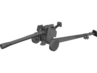 D-20 Howitzer 3D Model