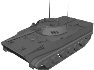 BMP-3 Infantry Fighting Vehicle 3D Model
