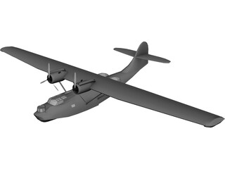Amphibious Aircraft 3D Model