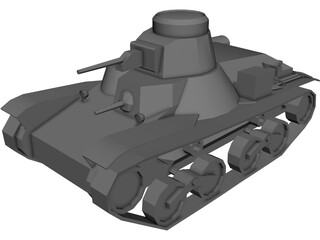 Type 95 Ha-Go Light Tank 3D Model