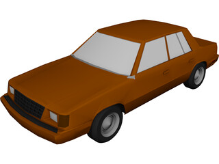 Plymouth Reliant (1985) 3D Model