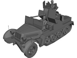 Sd.KfZ. 10-5 AA Vehicle 3D Model