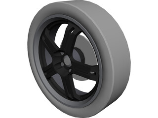 Wheel Enkei RZ5 3D Model