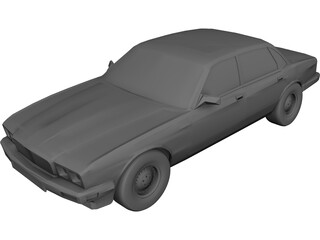 Jaguar XJ6 (1989) 3D Model 3D Preview