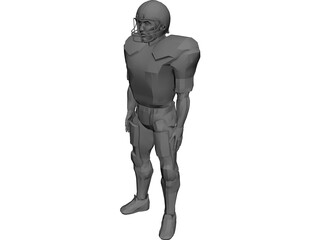 Football Player 3D Model 3D Preview