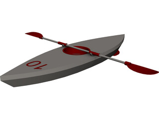 Kayak 3D Model 3D Preview