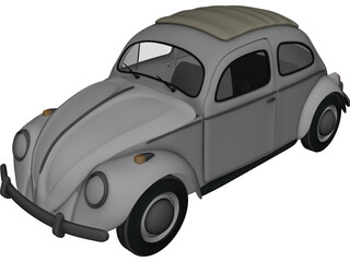 Volkswagen Beetle (1963) 3D Model