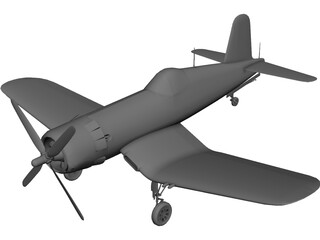 F4U-5 Corsair 3D Model