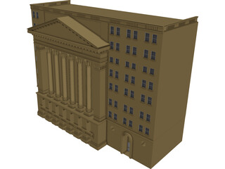 New York Stock Exchange 3D Model