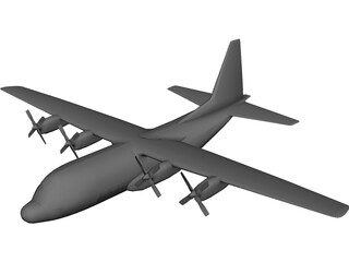 Lockheed C-130 Hercules CAD 3D Model