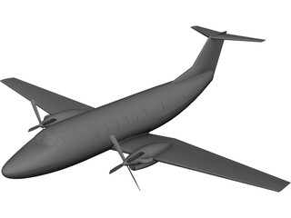 Beechcraft Super King Air 200 CAD 3D Model