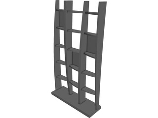 Bookcase 3D Model 3D Preview