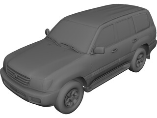 Toyota Land Cruiser (1998) CAD 3D Model