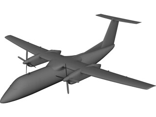 de Havilland Canada DHC-8 CAD 3D Model