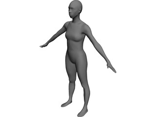 Woman African-American CAD 3D Model