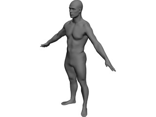Man European CAD 3D Model