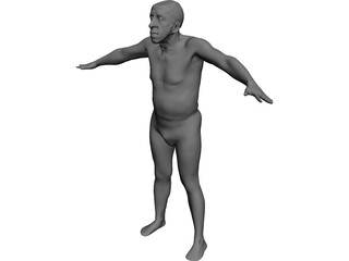 Man Old CAD 3D Model