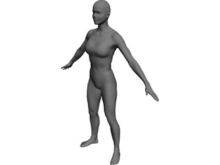 Woman European CAD 3D Model