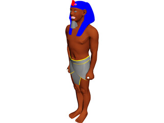 Egyptian Statue 3D Model 3D Preview