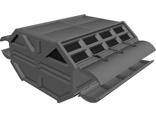 Spaceship Cargobox 3D Model