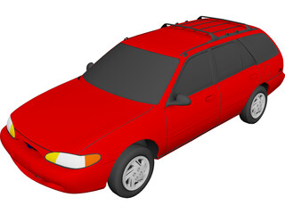 Ford Escort Wagon (1995) 3D Model