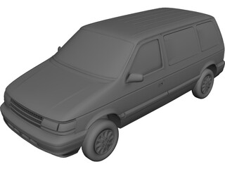 Plymouth Voyager (1995) 3D Model