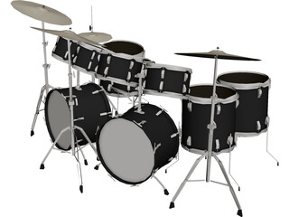 Ludwig 14Pc Drum Kit 3D Model