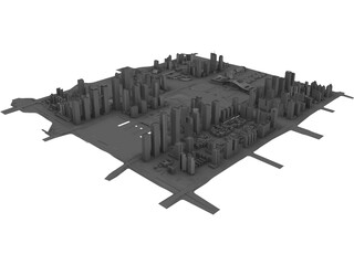 Shenzhen (China) 3D Model 3D Preview