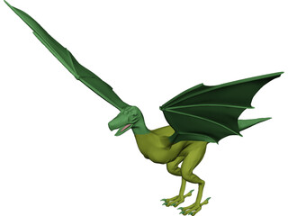 Griffin-Dragon Cross Creature 3D Model