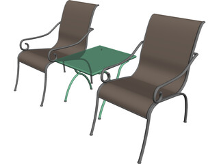 Chairs 3D Model 3D Preview