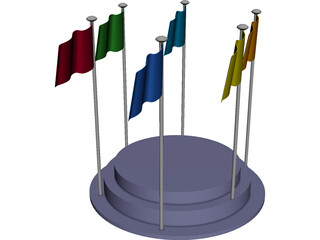 Flags 3D Model 3D Preview