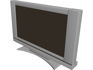 Plasma LCD Flatscreen TV 3D Model